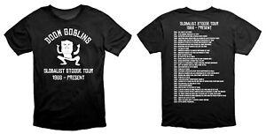 Doom Goblins Globalist Stooge Tour Climate Alarmism T Shirt Black