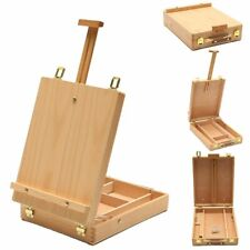 Wooden Easel Artist Painting Box Sketch Portable Table Folding Drawing Stand