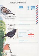 GB Stamps Aerogram / Air Letter APS108, 1st NVI Birds Issue, Garden Birds 1994