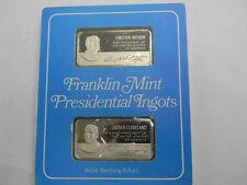 Franklin Mint Presidential Ingots Proof set- Chester Arthur & Grover Cleveland