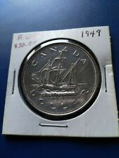 1949 Canadian Silver Dollar ($1), No Reserve!