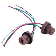 2pc 7443 7440 T20 Harness Wire Bulb Socket Pig Tail LED Turn Signal Brake Lights