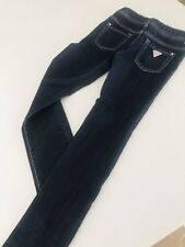 GUESS DESIGNER GIRLS JEANS PANTS NAVY BLUE STRETCHY Skinny Leg SZ 8