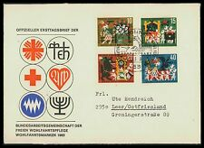 BUND FDC 1963 WOHLFAHRT MÄRCHEN BRÜDER GRIMM FAIRY TALES Nr 408/411 ca40
