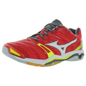 Mizuno Men's Wave Stealth 4 Mesh Athletic Court Sneakers Shoes Red Size 13M