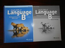 A Beka Book Language B Teacher keys homeschooling 5th grade lot of 2 English