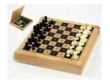 Scacchi portatili con scacchiera in legno cm 12x12