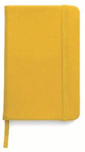 BLOCK NOTES,QUADERNO APPUNTI,rigido 100 pag f.to a6,x borsa-tascabile GIALLO