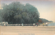 SINGAPORE - PASSAGE OF ANDERSON BRIDGE - OLD POSTCARD VIEW