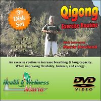 """A BEGINNERS GUIDE TO QI-GONG"" 3 Disk Set, Meditation / Relaxation Exercise DVD"