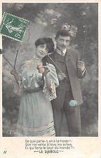 """Fancy Elegant Couple """"Le Diabolo"""" suit, dress, toys, play yoyo yo-yo 1908"""