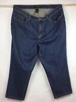 Venezia Jeans 22P 22 Petite Womens Stretch Denim Cropped Capri Dark Wash B17-2