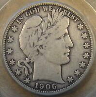 1906-O Barber Half Dollar PCGS F12