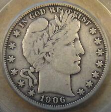 1906-O Barber Half Dollar 50c PCGS Certified F12