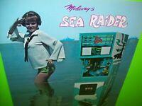 Midway Sea Raider Arcade FLYER Original NOS Game Artwork Submarine Subs 1969