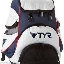TYR Alliance Team Backpack II Swimming Bag - White/Navy
