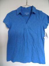 FASHION BUG Blue Short Sleeve Top shirt Blouse Sz M