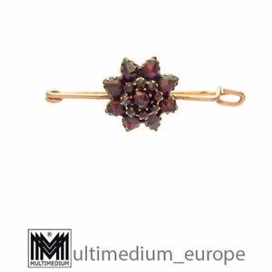 Jugendstil Granat Double Brosche Krawattennadel Revers Schal Nadel 🌺🌺🌺🌺🌺