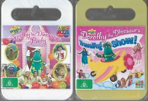 2 x WIGGLES DVDs Dorothy The Dinosaur's Travelling Show + Dorothy's Party SEALED