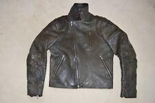 Acne Studios Gasoline Black Leather Zip Biker Jacket Coat Mens EU 48 UK 38 M