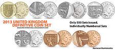 2013 UK  MELBOURNE INTERNATIONAL COIN & BANKNOTE SHOW DEFINITIVE SET :Only 500