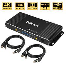 TESmart Ultra HD 4 Port HDMI KVM Switch Audio Switcher 4K@30Hz Supports USB 2.0