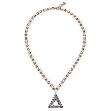 BID * Urban Anthropologie Aida Triangle Silver Rhinestone Interlink Necklace
