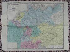 CARTE DE L'EUROPE CENTRALE LES OPERATIONS MILITAIRES