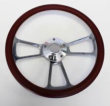 "Mercury Cougar Comet Cyclone Steering Wheel Burgundy & Billet 14"" Shallow Dish"