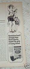 1969 vintage ad -Revelation pipe tobacco- man ukulele art print Advertising