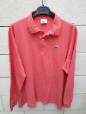 Polo LACOSTE Devanlay orange clair coton shirt 7 made in France manches longues