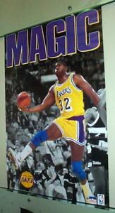 MAGIC JOHNSON Lakers Vintage Basketball POSTER!