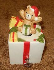 VTG BEAR DRUM MUSIC BOX GEORGE GOOD JAPAN BABY'S FIRST CHRISTMAS