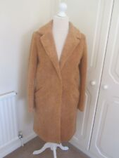 BNWT SOLD OUT RIVER ISLAND BROWN TEDDY KNEE LENGTH COAT SIZE 10 RRP 85.00