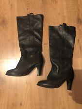 Ladies Black Heeled Boots By Atmosphere At Primark (Size 6)