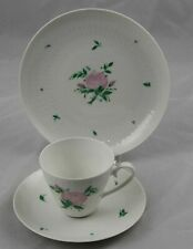 Rosenthal Romance Rose Continental Trio Cup, Saucer & Dessert Multiple Available
