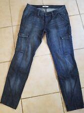 ESPRIT skinny Stretch Cargo style blue  jeans sz 8