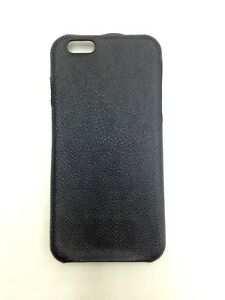 $180 Michael Kors Black Monogrammed Leather Cellphone Case Iphone 6 6s Accessory