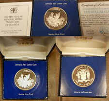 Jamaica 1984 Proof 10 Dollars, Individual Cased, Rare only 67 pcs Single cased.