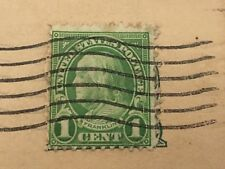 RARE USED 1 CENT GREEN Benjamin Franklin STAMP (Possibly Scott #594 or #596)