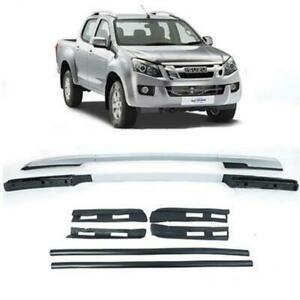Fit 12+ Isuzu D-Max Colorado Dmax 4 Doors Holden Rodeo Silver Roof Rail Bar 4WD