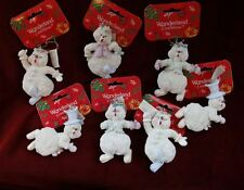 White Snowman Tree Ornaments Set Of 6 By Wonderland Traditions