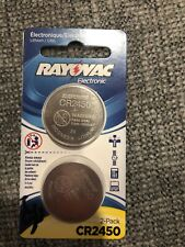 RAYOVAC KECR2450-2A 3-Volt Lithium Keyless Entry Battery (2 pk; CR2450 Size)