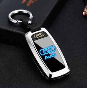 Key Chain Rechargeable Electric Windshield Lighter Flashlight Led logo for Audi