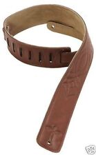 "Levy's DM1SG-BRN Guitar Leather Strap 2.5"" Brown - New"