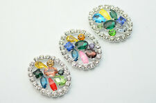 5 pcs Costume Dress Colorful Crystal Rhinestone Applique Sewing On A627