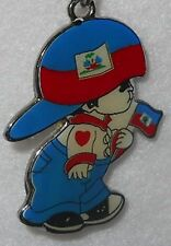 HAITI Flag Little Boy Key Chain