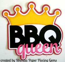 Bbq Queen Summer paper piecing title Premade Scrapbook Pages die cut by Rhonda