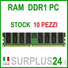 STOCK 10 X RAM 1 GB PC3200U DDR1 400 mhz 184pin X DESKTOP PC3200 Sin Ecc