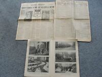 VINTAGE Set of (3) Political News Pages from NEWSPAPER's 1901, 1917 and 1919.